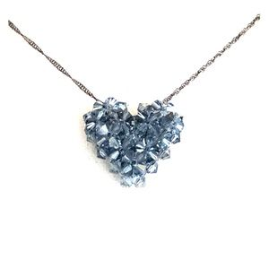 Jewelry - Heart Necklace made with Swarovski Crystal Beads